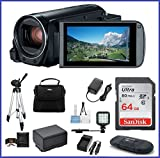 Canon VIXIA HF R80 Full HD Camcorder Ultimate Bundle, includes: 64GB SDXC Memory Card, LED Light, Tripod, Spare Battery and more...