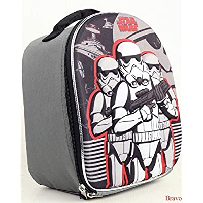Star Wars EP7 Storm Trooper Dome Shaped Lunch Bag With Molded Front: Kitchen & Dining