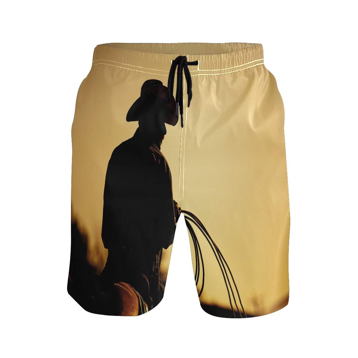 KVMV Cowboy Toyson Quick Dry Beach Shorts