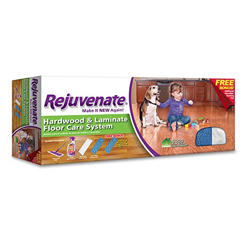 Rejuvenate® Hardwood and Laminate Floor Care System Mop Kit Floor System with 32 Ounce Floor Cleaner, Extendable Mop, Microfiber Dusting Pad and 2 Microfiber Cleaning Pads – 5 Piece Kit - Rejuvenate Hardwood Floor