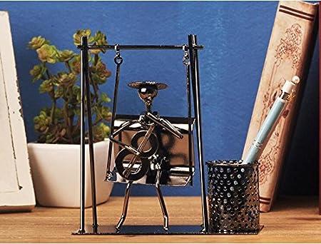tbqing Mode casa ideas hierro forjado lápiz jarrón decoración mesa ...
