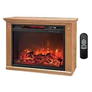 Lifepro 3 Element Portable Electric Infrared Quartz Fireplace Heater Ls 1111hh