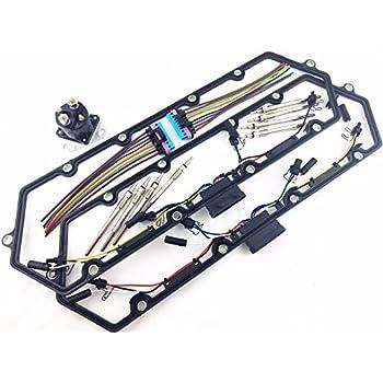 97-03 f250 f350 f450 turbo diesel glow plug set gaskets harness plugs relay  7 3l