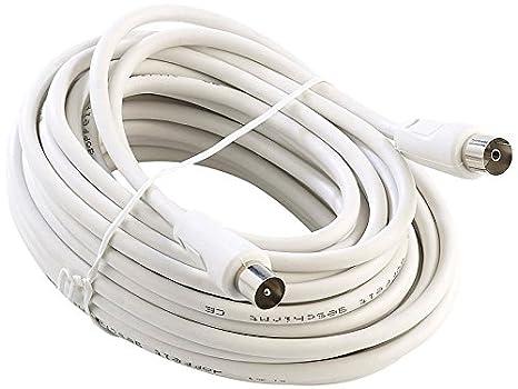 Chess k2261 Cable Coaxial 10 m blanco cable de antena con conector IEC: Amazon.es: Electrónica