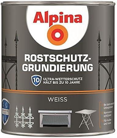 Alpina Rostschutz Grundierung Weiss 750 Ml Für Innen Außen Baumarkt