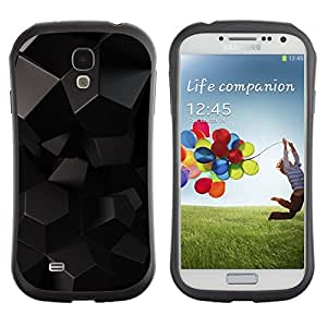 Paccase / Suave TPU GEL Caso Carcasa de Protección Funda para - Polygon Art Pattern Black Alien 3D Sci-Fi - Samsung Galaxy S4 I9500