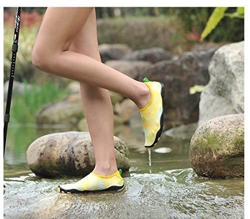 Z.suo Barefoot Schoenen Mannen Vrouwen En Kinderen Sneldrogend Water Schoenen Aqua Sokken Voor Strand Zwembad Surf Yoga Oefening Geel