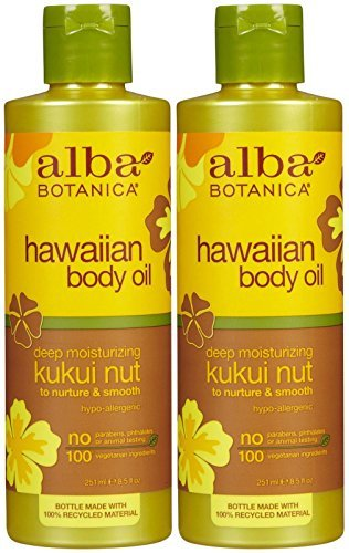 Alba Botanica Hawaiian Organic Body Oil - Kukui Nut - 8.5 oz - 2 pk