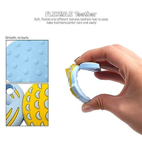 Amazon.com: philyer bebé dentición Juguete, flexible y ...