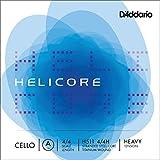 D'Addario Helicore Cello Single A String, 4/4 Scale, Heavy Tension