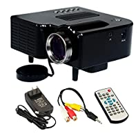 Gm40 Mini Hd Home LED Projector 24w Multimedia LCD Image System Portable LED Projectors for Video Tv Movie Support Hdmi VGA Av by Yesimai