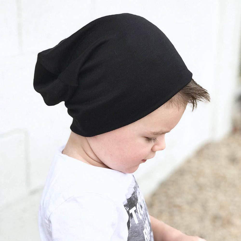 XXYsm Unisex Baby M/ütze Beanie Winter M/ädchen Jungen Hip Hop Hut weich Einfarbig Kappe