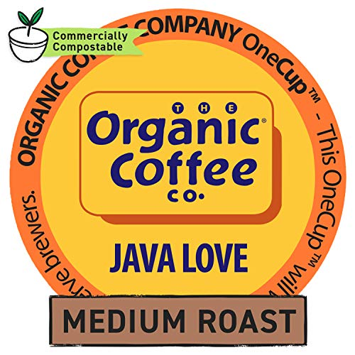 The Organic Coffee Co. OneCup, Java Love, Single Serve Coffee K-Cup Pods (80 Count), Keurig Compatible
