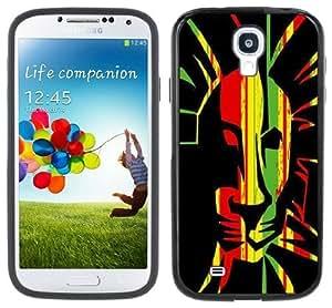 Rasta Rastafarian Lion Handmade Samsung Galaxy S4 Black Bumper Hard Plastic Case