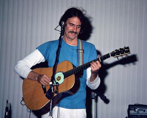 James Taylor 8x10 Promotional Photograph playing guitar in - James Memorabilia Taylor