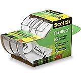 Fita Magica, Scotch, HB004087704, Transparente, pacote de 3