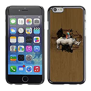 Cubierta de la caja de protección la piel dura para el Apple iPhone 6PLUS (5.5) - animal wood pattern hunter brown