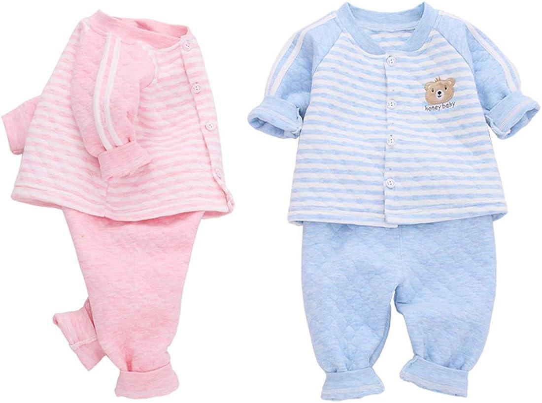 Pauboli - Pijamas de algodón orgánico para bebé (2 piezas) Azul azul 6 mes: Amazon.es: Ropa y accesorios