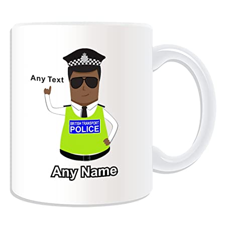 3a8f8f28d1d UNIGIFT Personalised Gift - British Transport Police Mug (Police Design  Theme, White) -