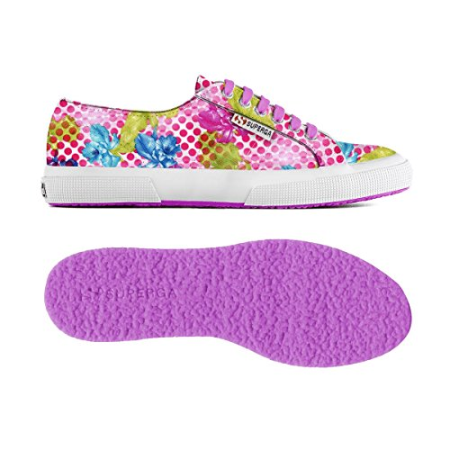 Chaussures Le Superga - 2750-fabricfanplw OPTICAL FLOWER FUXIA
