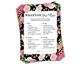 Pack of 50 What's on Your Phone Bridal Shower or Bachelorette Party Game
