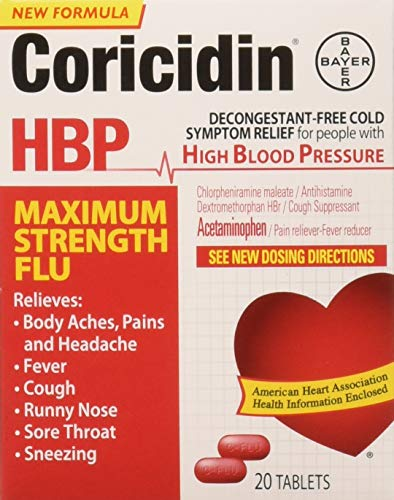 Coricidin Hbp Maximum Strength Flu, 20 Count