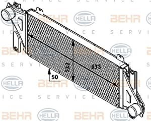 Behr hella service 376724291 charge air cooler for Mercedes benz service charges