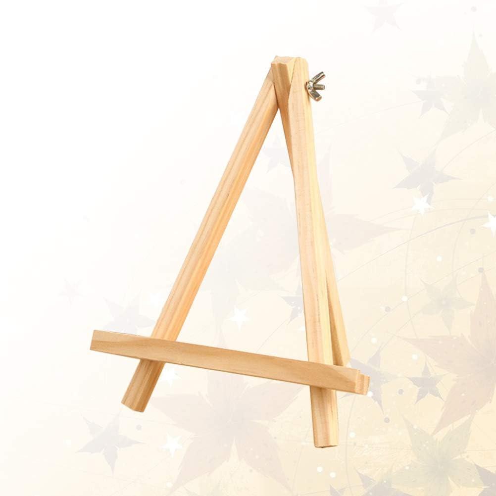 9 x 15 cm Toyvian 1pc Petit Tableau daffichage Bois Artiste a Cadre Cadre Photo Cadre Support Photo Peinture Triangle chevalet