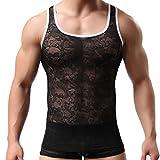 HOT SALE !Mesh Tank ,BeautyVan Women Men's Sexy Lace Vest Mesh Casual Tank Top Summer Nightwear Sleepwear