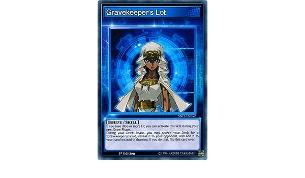 YUGIOH! Posten Des Grabwächters SS01-DEBS2 Skill Card Near Mint Common 1st!