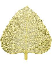 Yantan New Steel Handmade Leaf Shape Tea Strainer, Tea Infuser, Tea Filter, Perfect for Loose Leaf Tea (Gold)