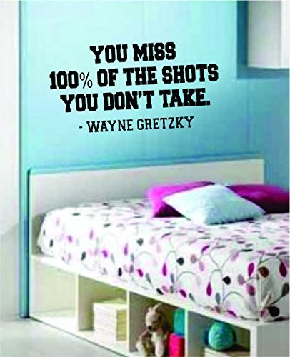You Miss 100 Version 2 Quote Decal Sticker Wall Vinyl Art Boy Girl Teen Sport Hockey