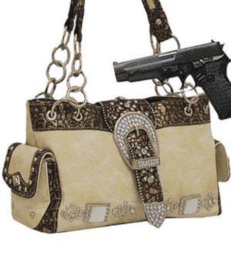 Ivory Western Buckle Conceal and Carry Purse