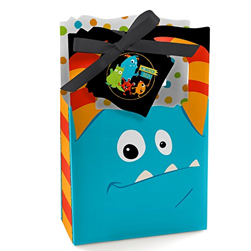 Monster Bash - Little Monster Birthday Party or Baby Shower Party Favor Boxes - Set of 12]()