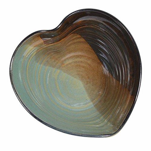 Holman Pottery Heart Shaped Bowl, Green Earth ()