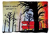 Camper Throw Blankets From Art (40 x 30, RV Camper in the Woods)