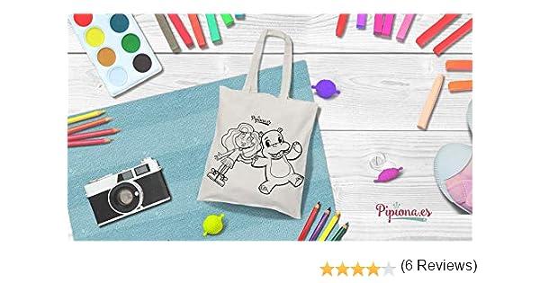 Leisial - Bolsa de tela de cáñamo y algodón, para pintar a mano, para creaciones propias, blanco
