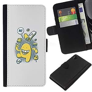 JackGot ( Lindo Cookies ) Sony Xperia Z2 D6502 la tarjeta de Crédito Slots PU Funda de cuero Monedero caso cubierta de piel