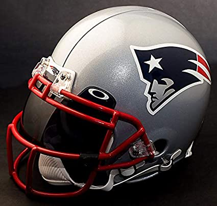 449eb9adf Image Unavailable. Image not available for. Color  Riddell New England  Patriots NFL Authentic Gameday Football Helmet with Dark-Tint Eye Shield