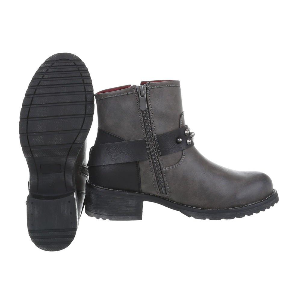 Zapatos para Mujer Botas Tacón Ancho Botines Camperos Ital-Design: Amazon.es: Zapatos y complementos