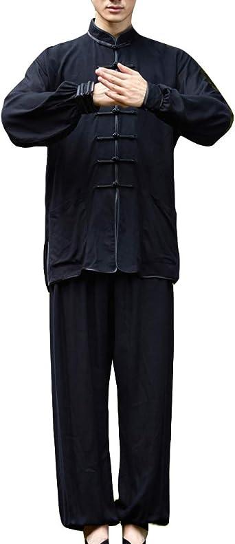 GladiolusA Hombre Mujer Camisa Chaqueta + Pantalones Traje Tang Chino Tradicional Artes Marciales Kung Fu Tai Chi: Amazon.es: Ropa y accesorios