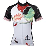 Paladin Womens Cycling Jerseys Flower Series Plum,Lily,Lilac,Lotus,Magnolia Pattern Beautiful Lady's Bike Shirt Breathable Summer Anti-sweat Cycling Clothing