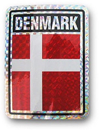 (ALBATROS (6 Pack) Denmark Country Flag Reflective Decal Bumper Sticker for Home and Parades, Official Party, All Weather Indoors Outdoors)