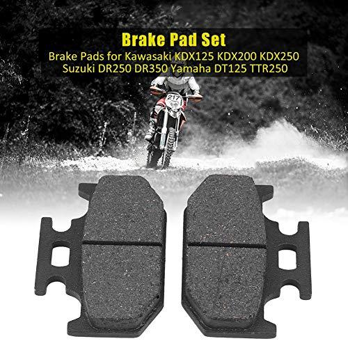 Price comparison product image AjaxStore - Front Brake Pads 1 Set Motorcycle Brake Pads for Kawasaki KDX125 Suzuki DR250 DR350 Yamaha DT125 TTR250