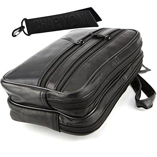 Bolsa llavero con piel Charmoni de negro viaje BqdwZZpH
