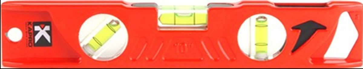 Kapro 923-10-10 Cast Aluminum Toolbox Level with Plumb Site, 10-Inch