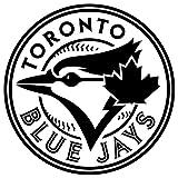 Toronto Blue Jays logo Waterproof Vinyl Decal Stickers (Set of 2) for MacBook - Laptop - Phone - Helmet - Car Window Bumper - Mug - Cup - Door - Wall - Home Decoration