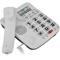 2-line Corded Phone with Speakerphone, Noise Cancelling Clear Sound Mute Re-dial Caller ID Corded Fixed Landline…