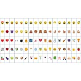 AGM 85pcs Light Up Box Emojis, Additional Colorful Decorative Emoji Symbols Card for Warm White Cinematic Light Up Box
