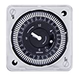 Grasslin by Intermatic MIL72ESWUZH-240 7-Day 240V Flush Mount Electromechanical Time Control with Manual Override